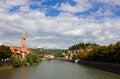 Verona Adige River view Toward Castel San Pietro