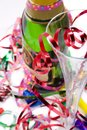 Bright and colorful party scene