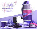 Bright colorful purple theme gift wrapping Royalty Free Stock Photo