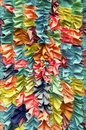 Bright colorful ruffled fabric background close up Royalty Free Stock Image