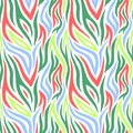 Bright and colorful seamless pattern with stripes. Boho style.