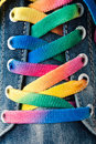 Bright colorful shoelace Royalty Free Stock Photo