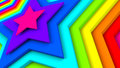 Bright colorful stars abstract 3d render