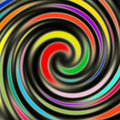 Bright Colorful Swirls Stock Photography