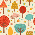 Bright colorful trees pattern illustration Royalty Free Stock Photography