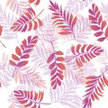 Bright colorful vector seamless pattern beautiful artistic silho Royalty Free Stock Photo