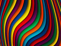 Bright colorful wavy background