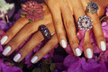 Bright colorfull shot of african tanned hands with