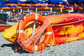 Bright colors at Monterosso al Mare beach Royalty Free Stock Photo