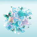 Bright colors soul in the spring on a light background Royalty Free Stock Images