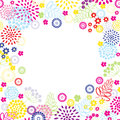 Bright colors summer flowers frame Stock Images