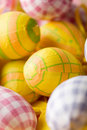 Bright coloured Easter eggs Stock Photo
