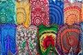 Bright colourful Arabian, Turkish, oriental traditional babushka Royalty Free Stock Photo