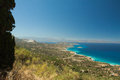 Bright contrasting views of the aegean sea crete Stock Images