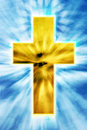 Bright cross on heaven Stock Photos