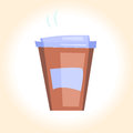 Bright disposable coffee cup