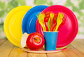 Bright, Disposable Tableware O...