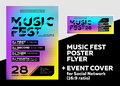 Bright DJ Poster for Summer Festival. Minimal Electronic Music C Royalty Free Stock Photo
