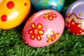 Bright Easter eggs Royalty Free Stock Images