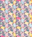 Bright endless patchwork pattern.