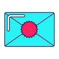 Bright envelope icon