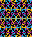 Bright extraordinary geometric seamless pattern with triangles a and arrows saturated continuous texture best for graphic and web Stock Photo