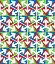 Bright extraordinary geometric seamless pattern with triangles and arrows vivid continuous texture best for graphic and web design Stock Photo