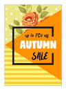 Bright eye catching sale website posters in flat design style Royalty Free Stock Photo