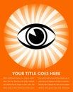 Bright eye sunburst design. Royalty Free Stock Photo