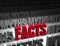 Bright facts vs dark myths a glaring red stands out in a field of Royalty Free Stock Photography