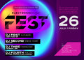 Bright Festival Poster. Electronic Music Cover for Summer Royalty Free Stock Photo