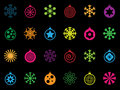 Bright festive icons Stock Photography