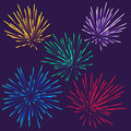 Bright fireworks colorful vector this is file of eps format Royalty Free Stock Images