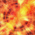 Bright flash rays in cosmos stars background Royalty Free Stock Photo