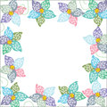 Bright floral frame background for your design Royalty Free Stock Photo