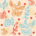 Bright floral seamless pattern Royalty Free Stock Image
