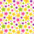 Bright floral seamless pattern on light background vector it can be used for decorating of invitations cards wallpaper Royalty Free Stock Photo