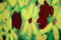 Bright Flowers - acrylic on canvas Royalty Free Stock Images