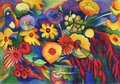 Beautiful colorful bouquet of multicolored flowers Royalty Free Stock Photo