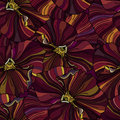 Bright flowers seamless backround pansy Stock Photography