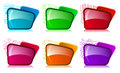 Bright folders with different color and themes Royalty Free Stock Photo