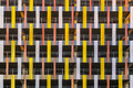 The bright fragment of the facade of a building on the Military in Saint-Petersburg Royalty Free Stock Photo