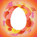 Bright frame in shape of egg Stock Photos