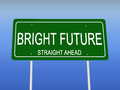 Bright Future Road Sign Royalty Free Stock Photo