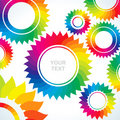 Bright gears of different colors