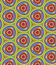 Bright Geometric pattern in repeat. Fabric print. Seamless background, mosaic ornament, ethnic style.