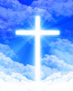 Bright glowing cross Royalty Free Stock Images