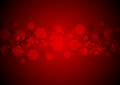 Bright glowing red hexagons vector tech background Royalty Free Stock Photo