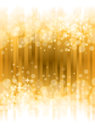 Bright gold background a with shining lights and stars Stock Photography