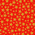 Bright golden stars on the red background Royalty Free Stock Photos